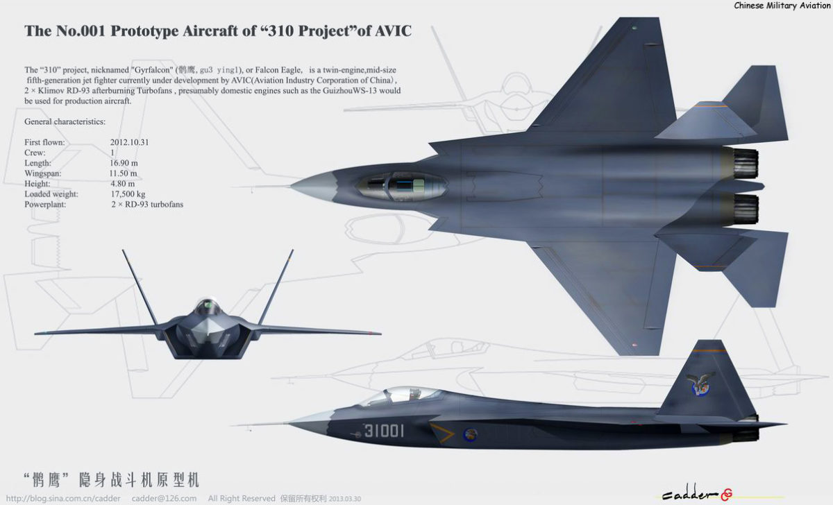 Chinese 5th Generation J 31 Stealth Aircraft Rivals Us