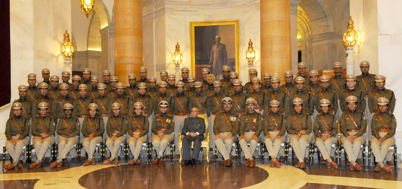 Indian Police Service probationer R. Bhaskaran receives