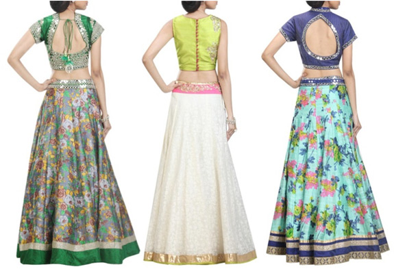 Remember to be fashionable and comfortable by picking suitable lehenga and  choli fabrics during those hot summer parties  raw silk and cotton are the. 5 CROP TOP DESIGNER LEHENGA STYLES THAT BLAZED THE RUNWAYS