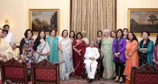 The President, Shri Pranab Mukherjee in a group photograph, during receiving the Coffee Table Book ?India's Most Powerful Women? from Ms. Prem Ahluwalia, Associate Editor, Young India, at Rashtrapati Bhavan, in New Delhi on July 28, 2016.
