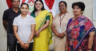 The Sportsperson, Contestant for Rio Olympics and BBBP Ambassador for Manipur, Ms. Deepa Karmakar meeting the Union Minister for Women and Child Development, Mrs. Maneka Sanjay Gandhi, in New Delhi on July 28, 2016.