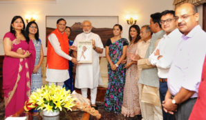 Prime Minister Receives A Book 'Mahatma Gandhi's Life In Colour'