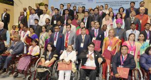 The President, Mr. Pranab Mukherjee with the recipients of the 'National Awards for the Empowerment of Persons with Disabilities (Divyangjan), 2016', on the occasion of the 'International Day of Disabled Persons', organised by the Department of Empowerment of Persons with Disabilities (Divyangjan), Ministry of Social Justice and Empowerment, in New Delhi on December 03, 2016.