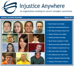 Download The Injustice Anywhere 2017 Newsletter And Join The Fight To Free The Innocent