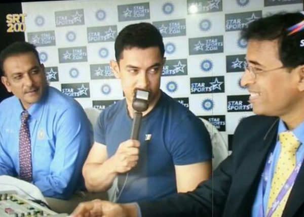 Aamir Khan the commentator for 200 Test