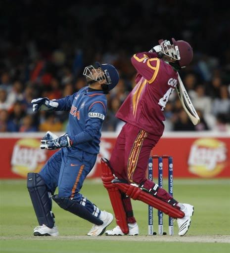 India vs West Indies Dhoni and Chris Gayle