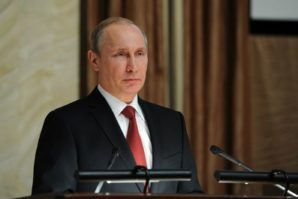 """""""Colleagues, the fight against terrorism and extremism continues to be a key area of the Federal Security Service's work"""", said Putin"""