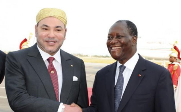 King Mohammed VI with the President of the Republic of Côte d'Ivoire, Alassane Ouattara, February 2014