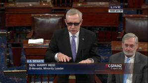 """""""So I say to my Senate colleagues, respectfully–and I mean that–stop banging your heads against the wall"""", said Senator Reid"""