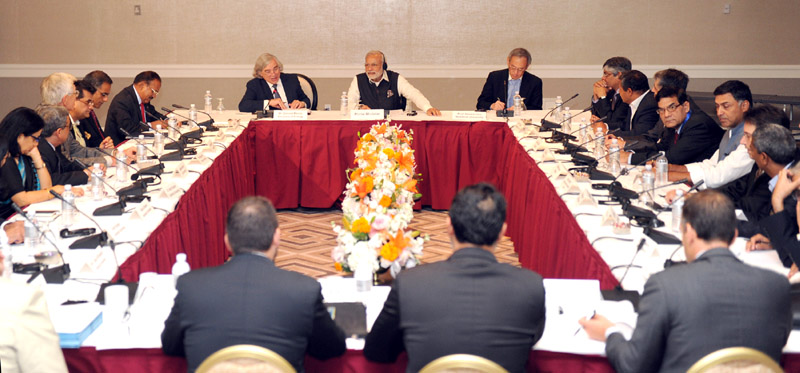 The Prime Minister, Mr. Narendra Modi at the Roundtable meeting on Renewable Energy, in San Jose, California on September 27, 2015.