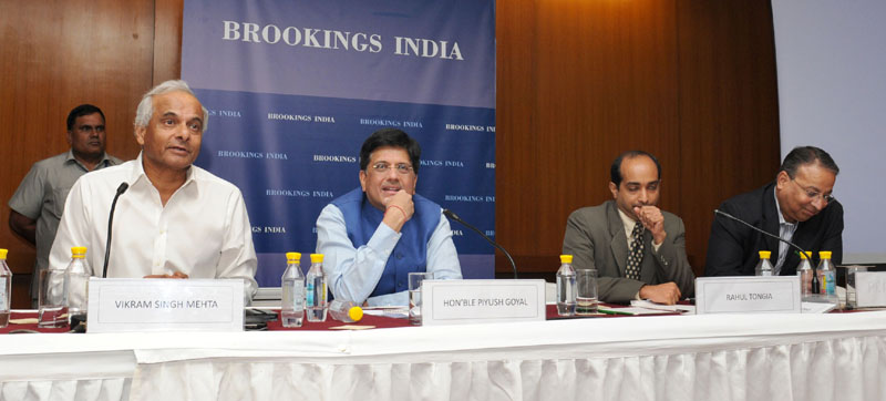 The Minister of State (Independent Charge) for Power, Coal and New and Renewable Energy, Mr. Piyush Goyal delivering the keynote address at the Workshop on Coal, NRE, DISCOMS, organised by the Brookings India, in New Delhi on September 29, 2015.