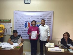 Annaliz Gonzales filed her Certificate of Candidacy for the Representative of Eastern Samar
