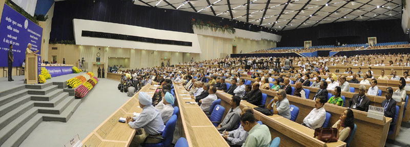 The Prime Minister, Mr. Narendra Modi addressing at the inauguration of the 10th Annual Convention of Central Information Commission, in New Delhi on October 16, 2015.