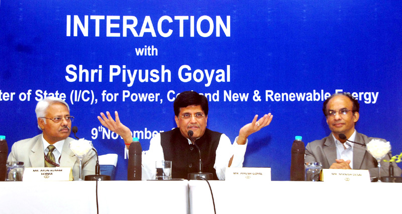 The Minister of State (Independent Charge) for Power, Coal and New and Renewable Energy, Mr. Piyush Goyal attended interactive meeting with the investor, in Mumbai on November 09, 2015.