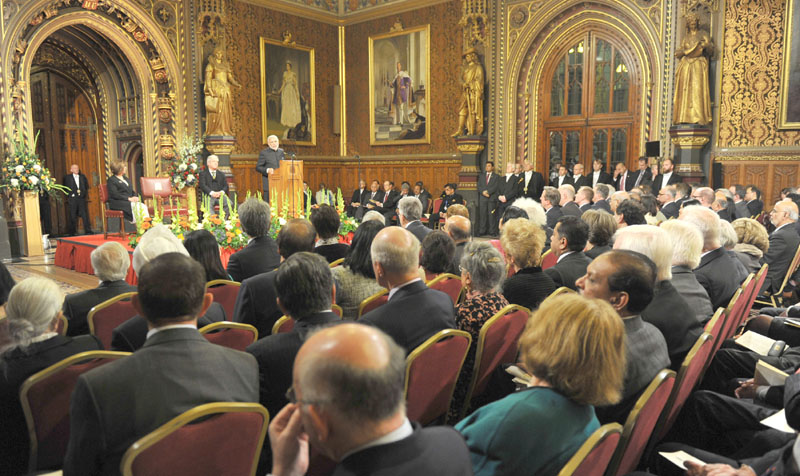 The Prime Minister, Mr. Narendra Modi addressing the British Parliament, in Westminster, London on November 12, 2015.