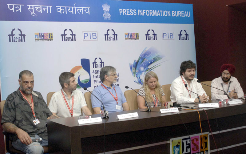 The cast and crew of the Closing Film 'The Clan' at a press conference at the 46th International Film Festival of India (IFFI-2015), in Panaji, Goa on November 29, 2015.