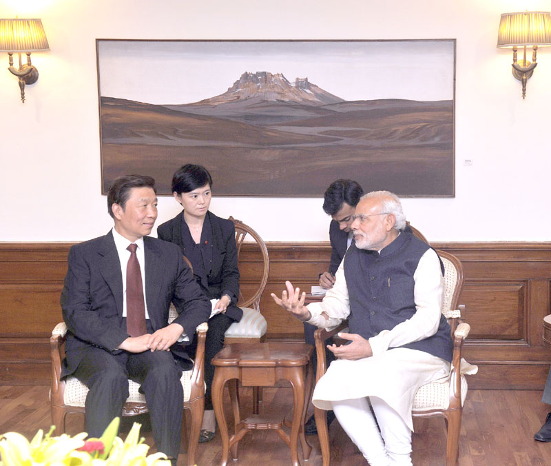 The Vice President of the People?s Republic of China, Mr. Li Yuanchao meeting the Prime Minister, Shri Narendra Modi, in New Delhi on November 06, 2015.