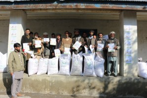 farmers being educated about seeds usage in Chitral under IFSAP