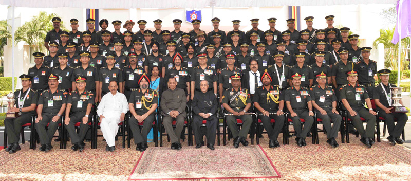 The President,Mr. Pranab Mukherjee in a group photograph at the convocation ceremony of the 96th Degree Engineering and 24th Technical Entry Scheme courses of Military College of Electronics and Mechanical Engineering, in Secunderabad on December 19, 2015. The President,Mr. Pranab Mukherjee in a group photograph at the convocation ceremony of the 96th Degree Engineering and 24th Technical Entry Scheme courses of Military College of Electronics and Mechanical Engineering, in Secunderabad on December 19, 2015.
