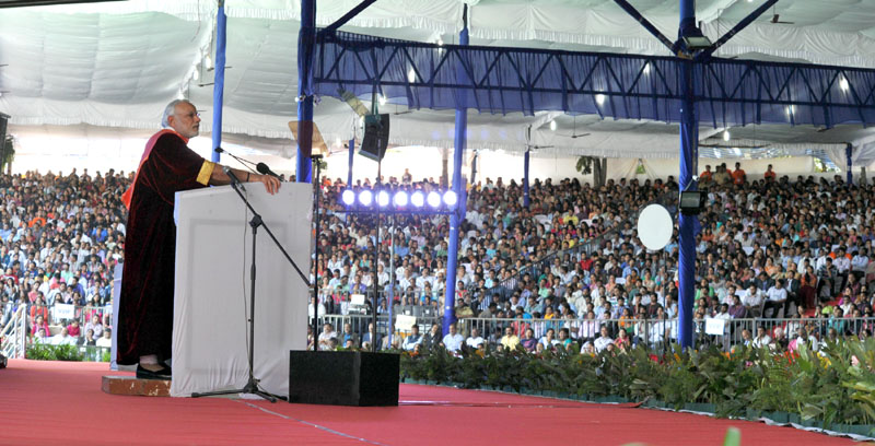 The Prime Minister, Mr. Narendra Modi delivering the inaugural address at the 103rd Session of Indian Science Congress, in Mysuru on January 03, 2016.