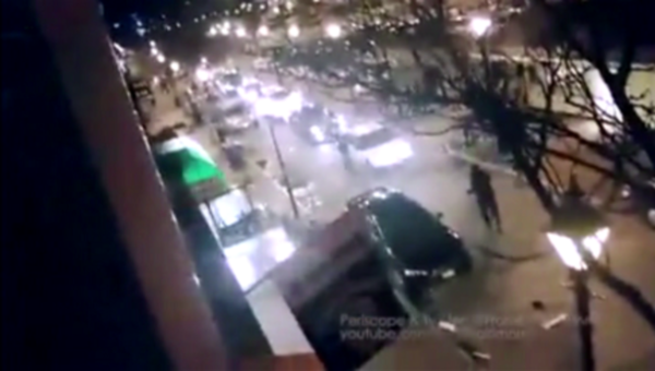 Man Runs Down A Woman And Hits Several Cars In An Uncontrollable Fleeing Attempt
