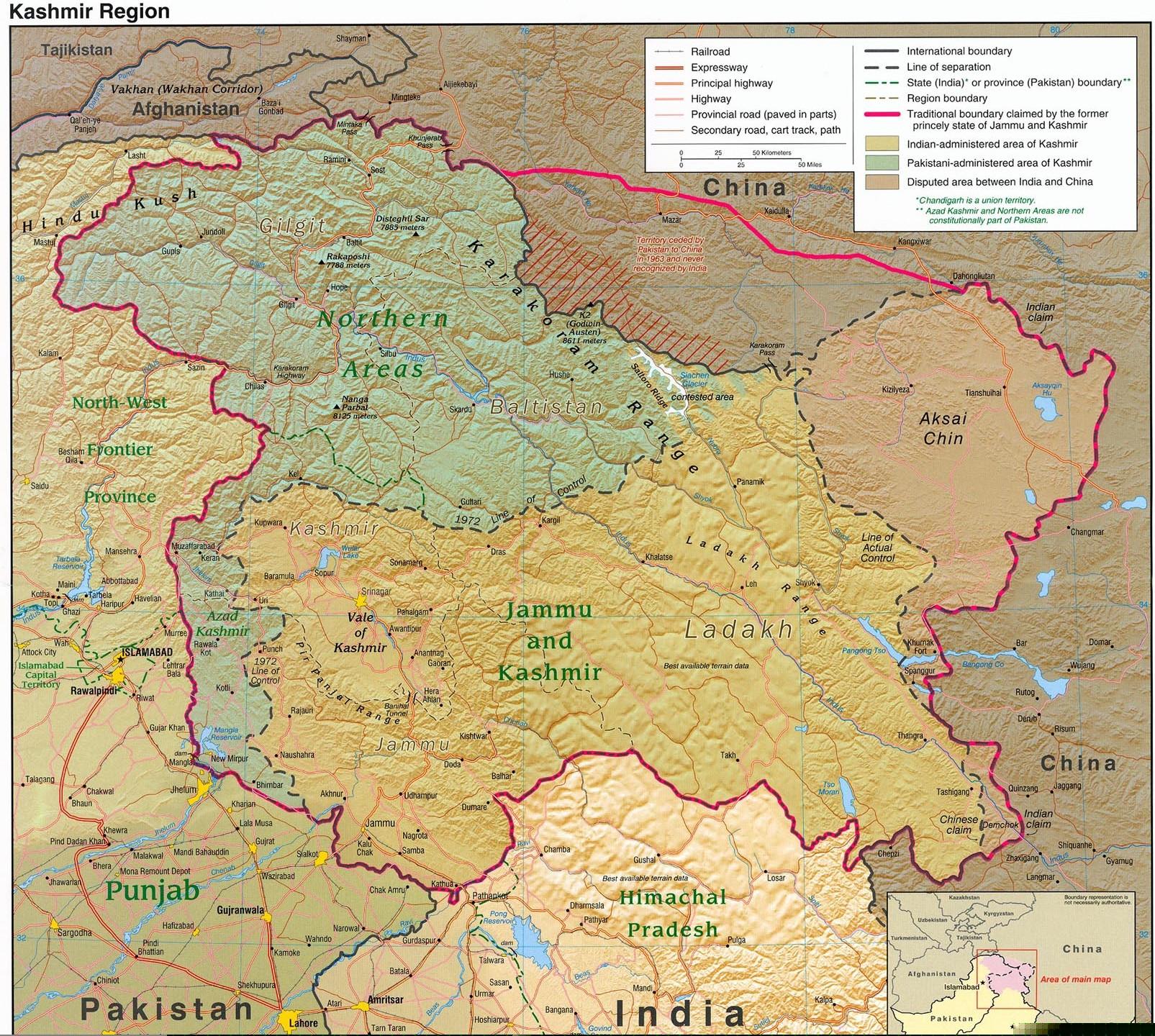 Is Kashmir Part of Pakistan? - Answers  Jammu And Kashmir World Map