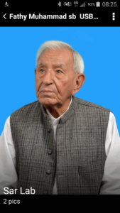 Veteran Kissan leader Chaudhary Fateh Mohammad at age of 91. Photos by Bilal Javed