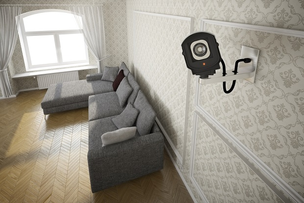 security camera systems living room