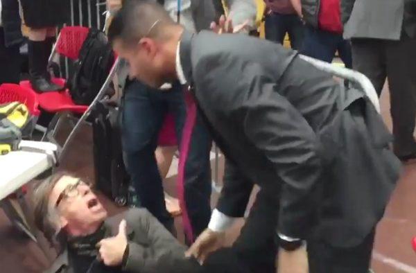 Secret Service Agent Knocks Down Photographer at Donald Trump's Rally