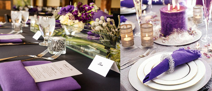 Purple Napkins Design