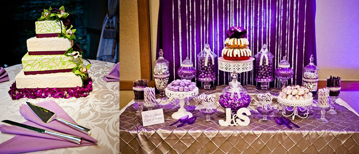 Sweet Purple Dessert Decoration