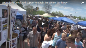 Supporters For The Wrongfully Convicted Gather At Columbia Missouri's Earth Day 2016 Festival