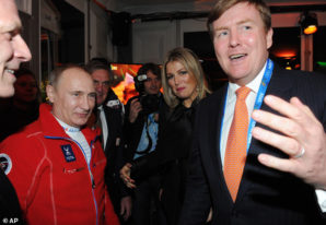 Vladimir Putin, King Willem-Alexander, Queen Maxima