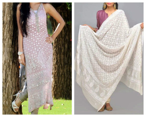 Chikankari suits for work pinterest