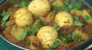 easy chicken curry eggs potatoes Masala recipe