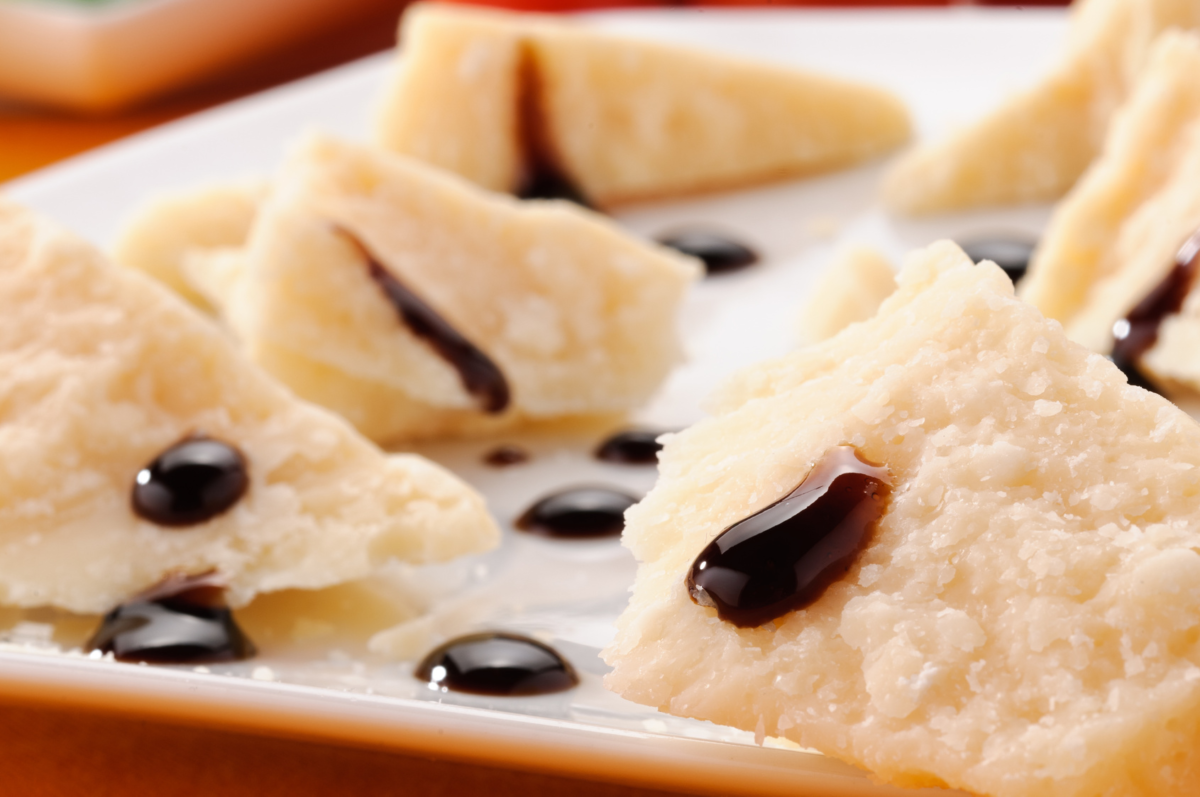 Aged Parmigiano Reggiano with aged Balsamic Vinegar