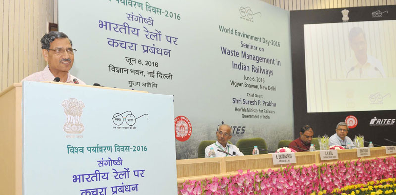 The Chairman, Railway Board, Mr. A.K. Mital addressing at the valedictory session of the seminar on 'Waste Management in Indian Railways' on the occasion of the 'World Environment Day', in New Delhi on June 06, 2016.
