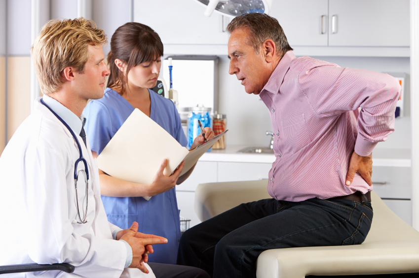 Patient Visiting Spine Surgeon in Beverly Hills