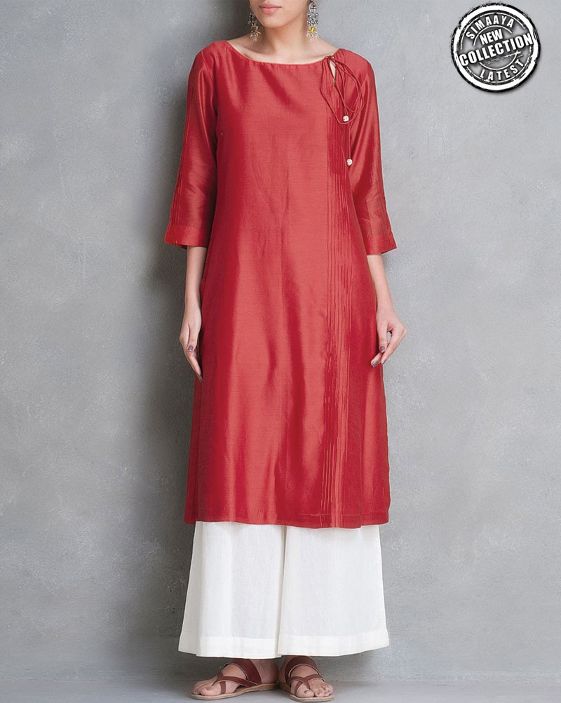 pure_chanderi_dark_red_designer_kurti_1_