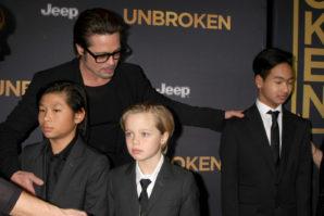 LOS ANGELES - DEC 15: Brad Pitt, Pax Thien Jolie-Pitt, Shiloh No