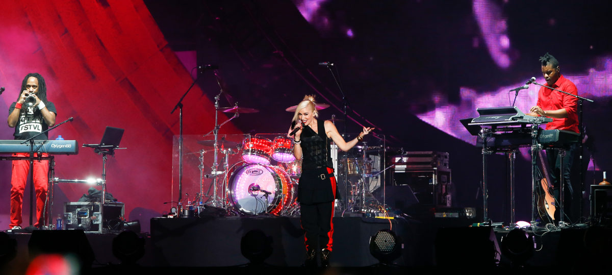 Gwen Stefani of musical group No Doubt performs at the 2014 Global Citizen Festival