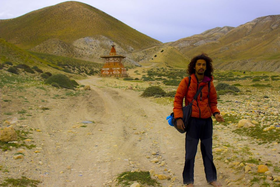 That is me standing in front of Suganda Chorten on my way to Lo La Pass.