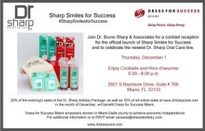 Dr. Sharp Natural Oral Care Launches 'Sharp Smiles for Success' at Event Benefiting Dress for Success Miami
