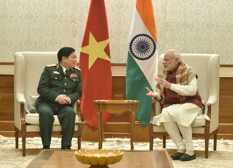 The Defence Minister of Vietnam, General Ngo Xuan Lich calls on the Prime Minister, Mr. Narendra Modi, in New Delhi on December 05, 2016.