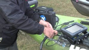 How to mount a fish finder on a kayak