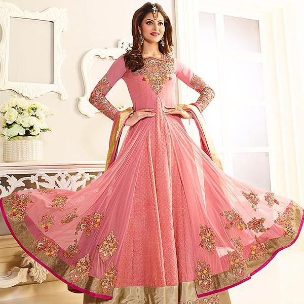 Pink Designer Anarkali Suit - like a diva