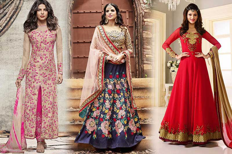 The latest Party Wear Suits for 2017 - likeadiva