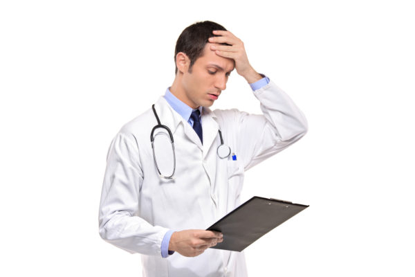 Doctor Banging His Head Realizing A Mistake