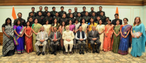 Indian Foreign Service Officer Trainees Call On Prime Minister