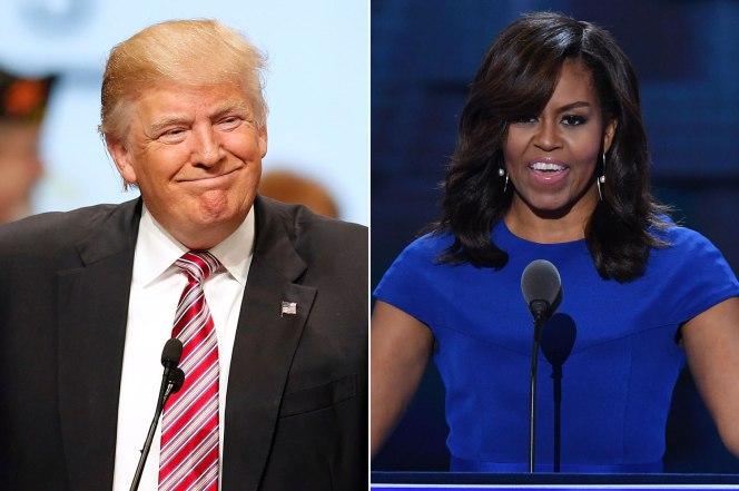 trump Michelle Obama